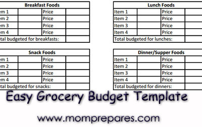 Grocery Budget Template: Free Download for Mom Prepares Readers!
