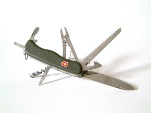 A pocket knife/swiss army knife is an essential item in your bugout/bugin bag. Image by Marzie