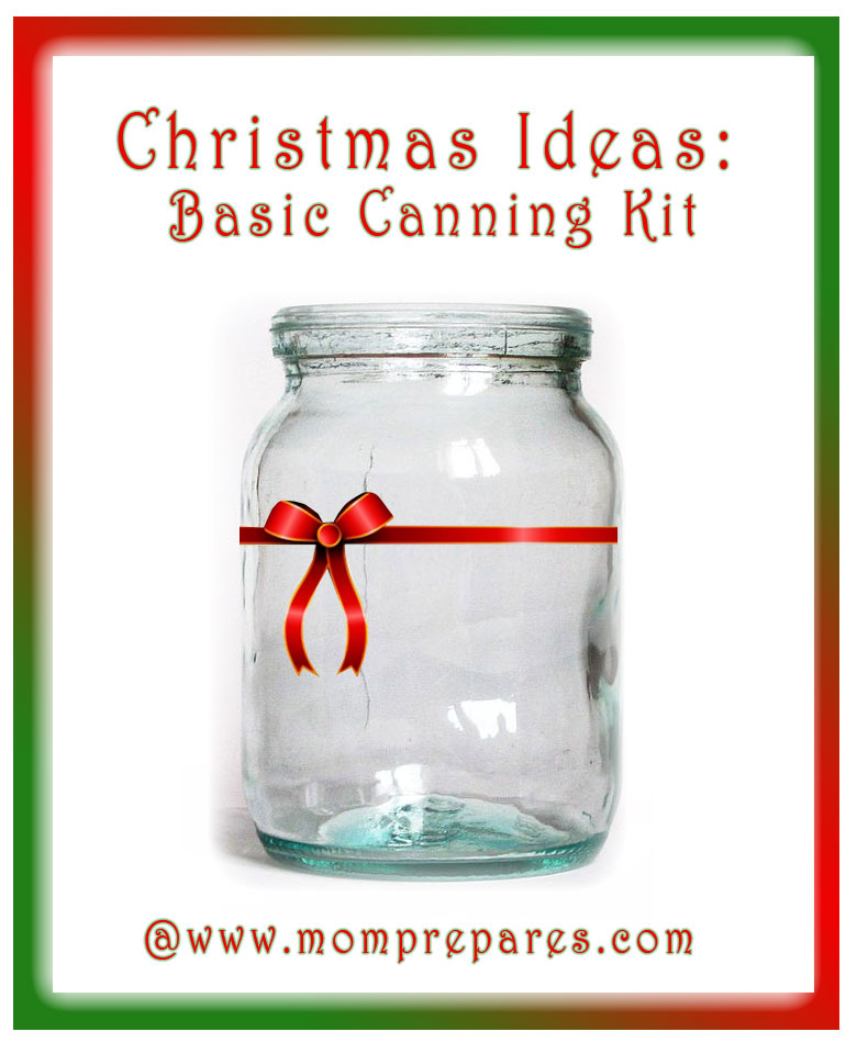 Surprise friends or family with a practical and fun gift: a canning kit! Image by MomPrepares