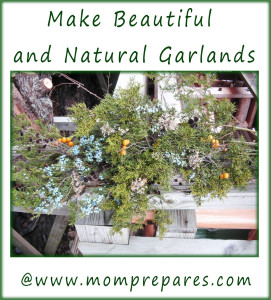 Make beautiful and natural garlands! Image by Mom Prepares