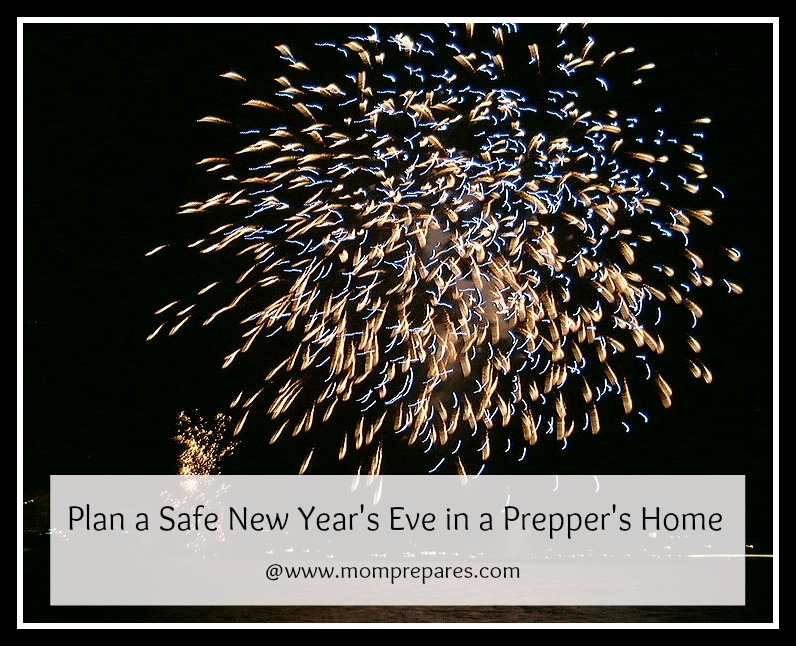 Plan for a safe prepper-themed New Year's Eve. Original Image by Chris Johnson, cover design by MomPrepares.