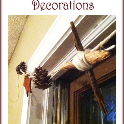 Christmas Decorations in a Prepper Home: Rustic Decor