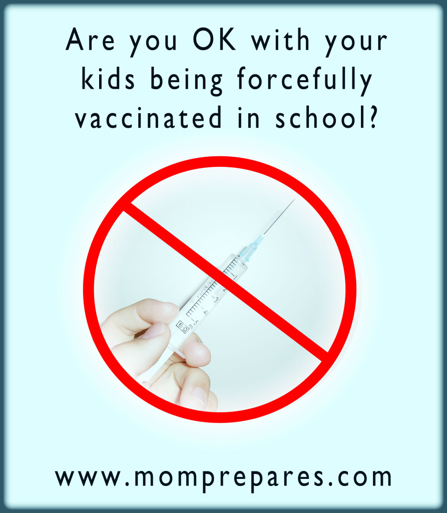 What are you going to do to make sure your kids aren't vaccinated against their (and your) will? Image by Kate Singer, original by e3zz