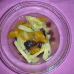 Completely cover the dried fruit with hot water. Image by Aprille Ross