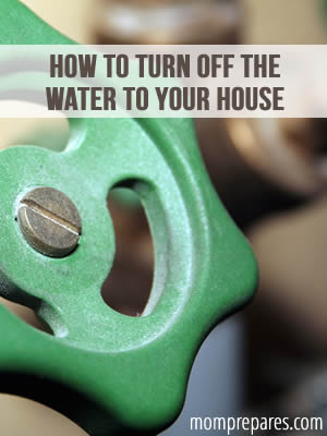 How to Turn off the Water to Your House