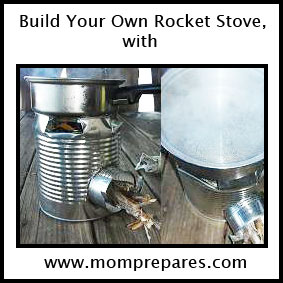 You can turn a few everyday objects into your own rocket stove! Image by Aprille Ross, cover design by  Kate Singer.