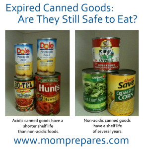 Expired Canned Goods Still Safe To Eat Mom Prepares
