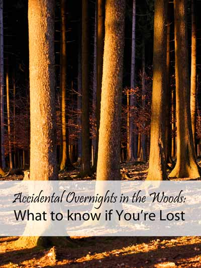 Accidental Overnights in the Woods: What to know if You're Lost