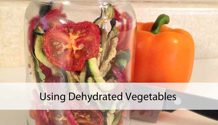 Using Dehydrated Vegetables