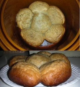Rolls successfully cooked in the crockpot and look how pretty they browned too! Image by Aprille Ross