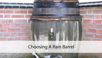Choosing a Rain Barrel