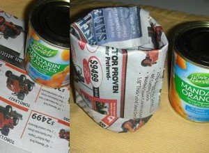 Make seed starter pots from old newspapers. Image by Aprille Ross