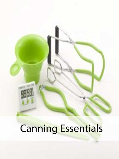 Bright green canning utensils from Presto. Photo courtesy of Amazon