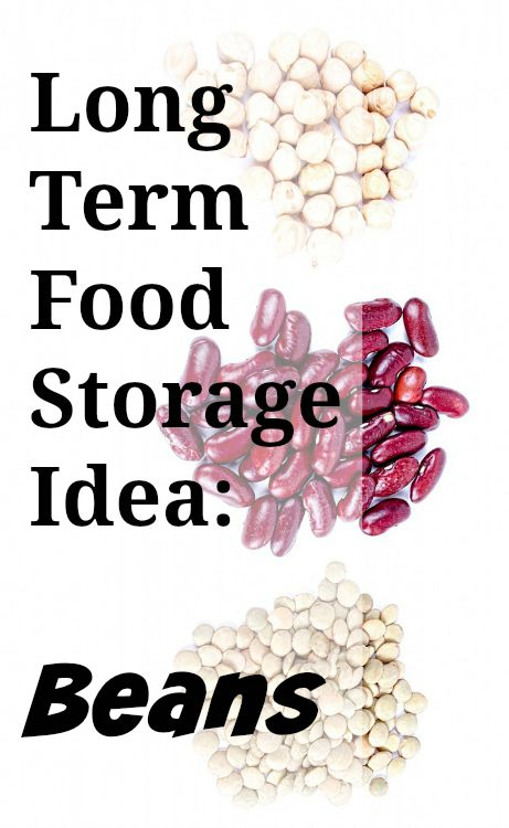 Long Term Food Storage Ideas: Beans