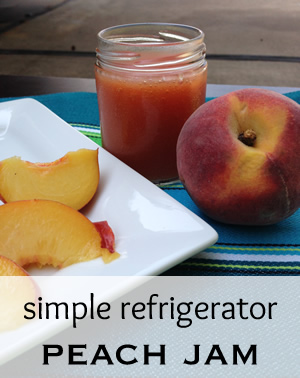Peach Refrigerator Jam Recipe
