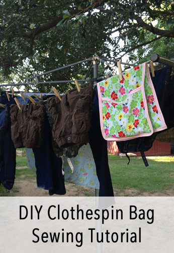 DIY Clothespin Bag Sewing Tutorial