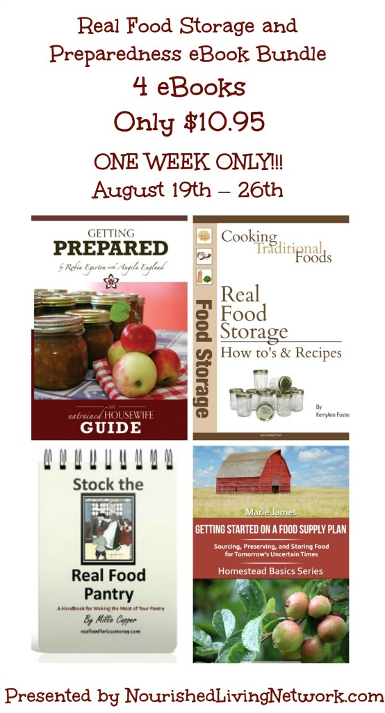 Food storage and Preparedness Ebook Bundle from Nourished Living Network