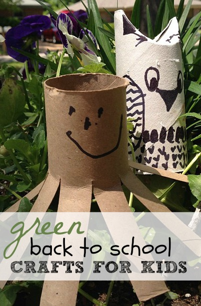 Green Back to School Crafts for Kids