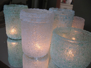 DIY Epsom Salt Luminaries
