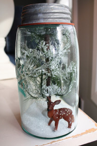 Mason Jar Snow Globes and Terrariums