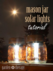 Mason Jar Solar Lights Tutorial from gardentherapy.ca