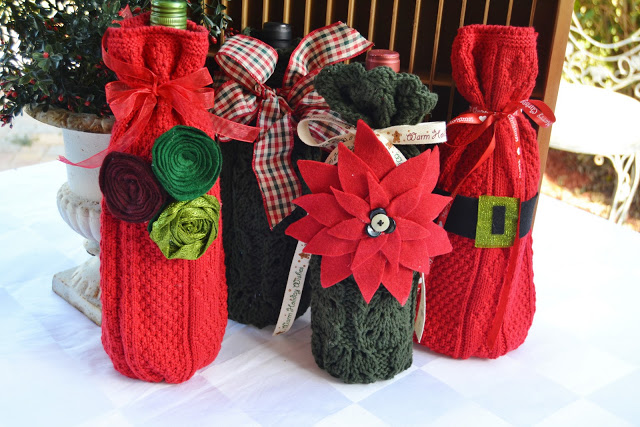 Sweater Wine Bottle Sleeves