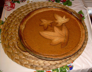 A lovely traditional pumpkin pie. Flickr image by kerryj.com