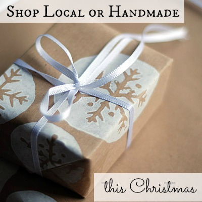 Shop Local and Handmade for Christmas