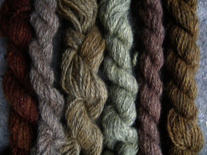 Plant-dyed skeins of wool. Photo Credit: Annakika / CC by 2.0