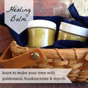 DIY Healing Balm with Biblical Herbs, Goldenseal, Frankincense, and Myrrh
