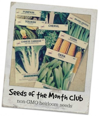 Seeds of the Month Club - non-GMO heirloom seeds.