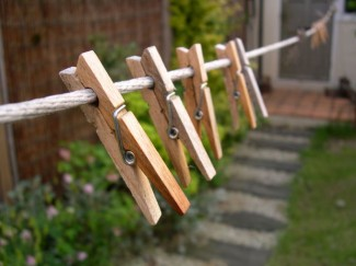 Those handy clothes pegs can help your garden stay organized. Photo: Monosodium / CC by 2.0