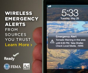 Activate the Wireless Emegency Alert system on your mobile device so you'll know when a storm is coming.