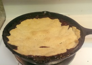 The finished cherry pie. Photo by Brenda Priddy