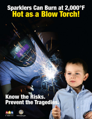 Sparklers Can Harm