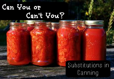 Can You or Can't You? Substitutions in Canning