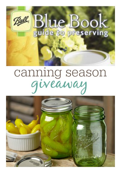 Canning Season Giveaway at MomPrepares - Win Ball Jars and Book