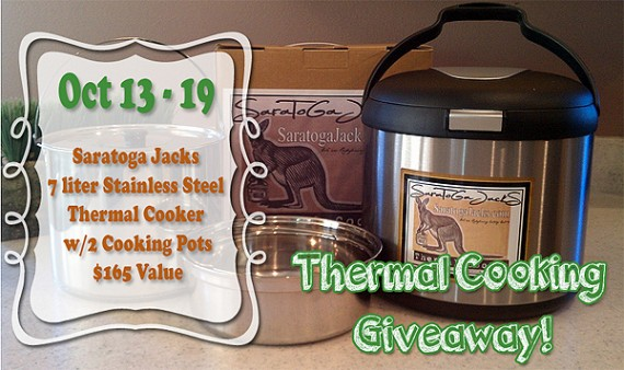 Thermal Cooker Giveaway Oct. 13th-19th, 2014 cooks like a slow cooker
