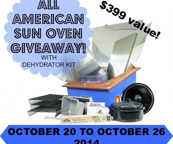 Win an All American Sun Oven in this #Giveaway!