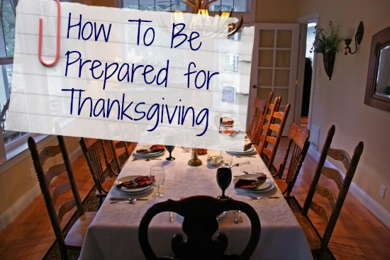 prepare for thanksgiving