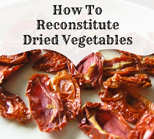 use dried vegetables