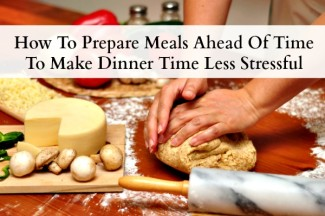 how to make meals ahead of time