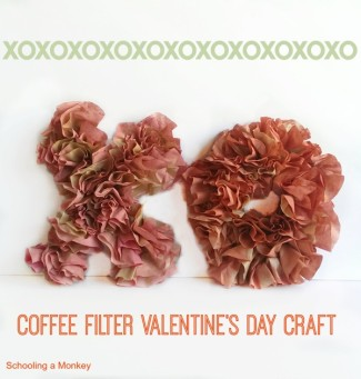 coffee filter valentines craft 5