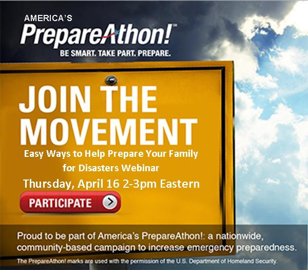 Free Webinar: Easy Ways to Help Prepare Your Family for Disasters (April 16th)