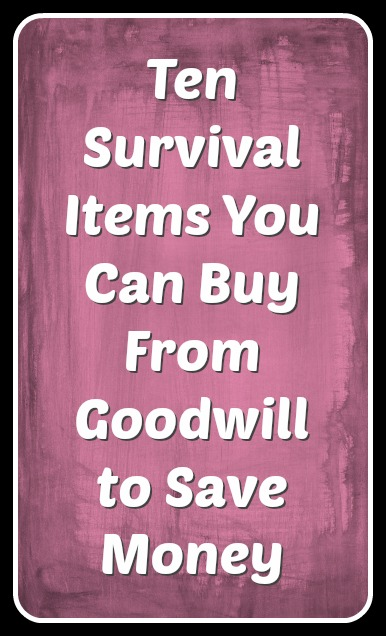 Ten Survival Items You Can Buy From Goodwill to Save Money