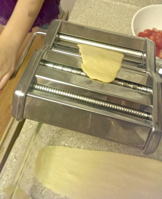 Rolling the dough is a favorite activity for kids. Photo by Brenda D Priddy