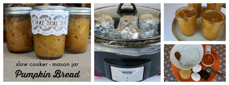 Mason Jar Pumpkin Bread Slow Cooker Recipe