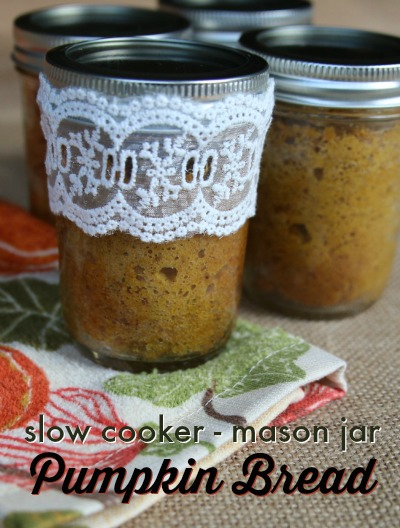 Slow Cooker Mason Jar Pumpkin Bread Recipe