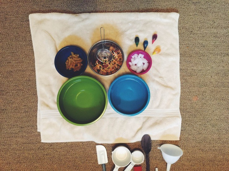 Water Mixing Bowl Activity for Toddlers