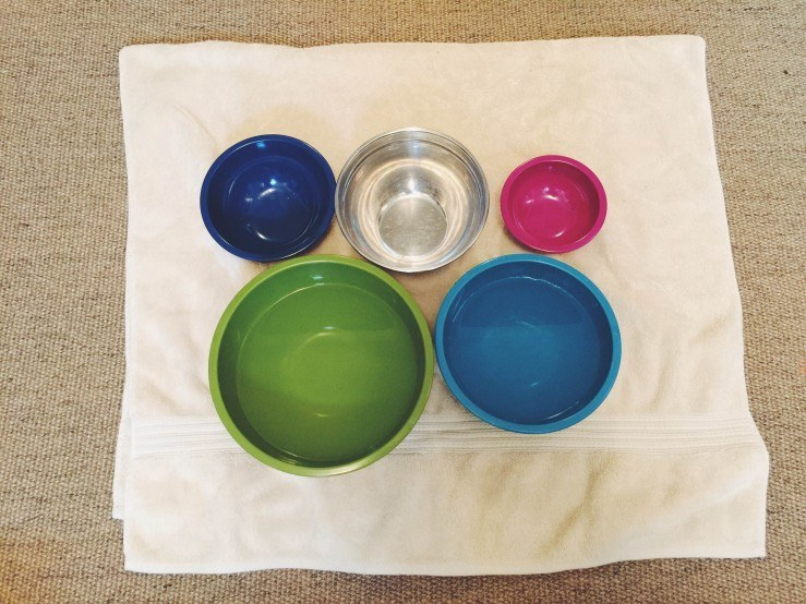 Mixing Bowls with Water